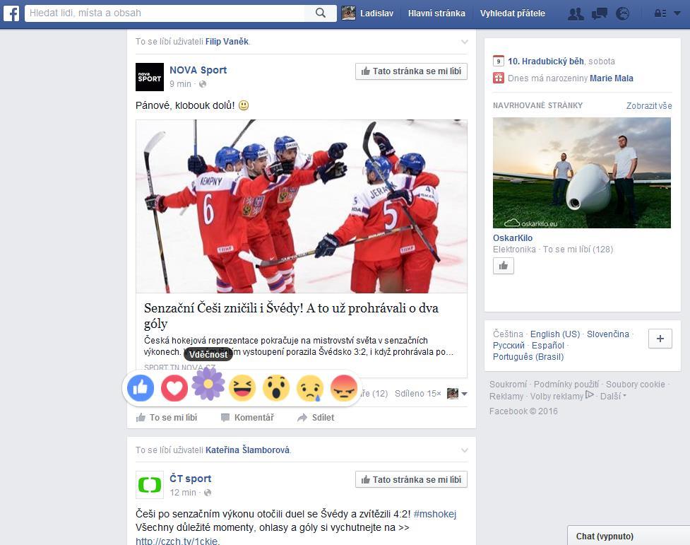 Vděčnost - nová reakce na Facebooku